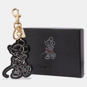 Coach boxed Minnie Mouse pose bag charm